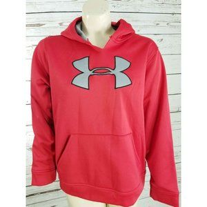 UNDER ARMOUR Red hoodie Youth large Sweatshirt 682